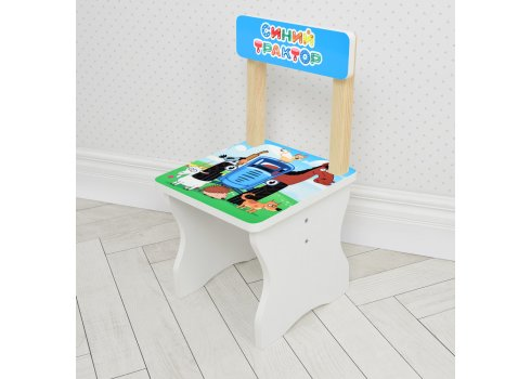 Детский стол и стул Синий трактор BAMBI 504-87