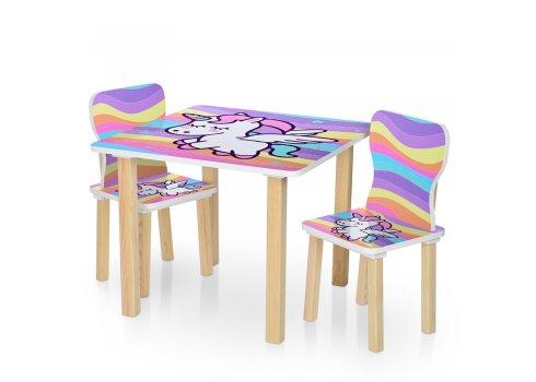 """Детский стол и два стульчика """"Единорог"""" 506-66"""
