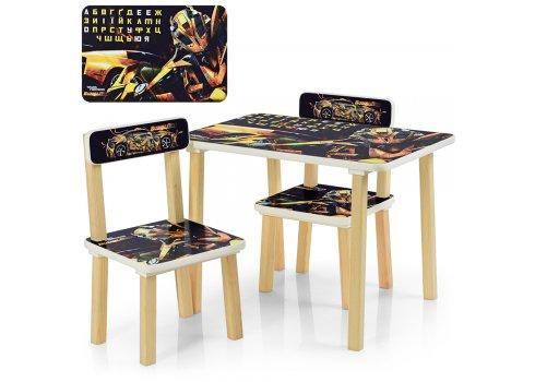 Детский столик и два стульчика Трансформеры 507-54