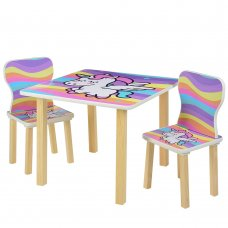 Детский столик и 2 стульчика Единорог 508-66