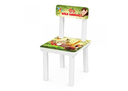 Детский деревянный столик со стульчиком Животные BSM2K-80