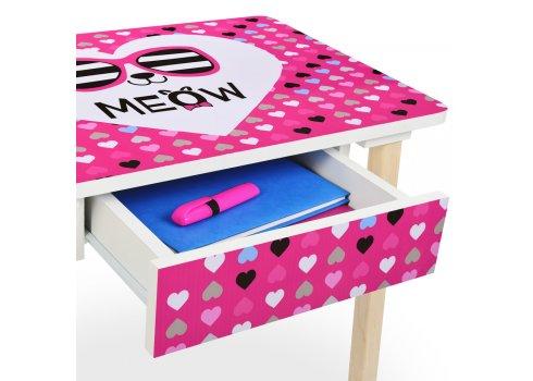 Детский столик с ящиком и стульчик BAMBI Сердечки 803-2