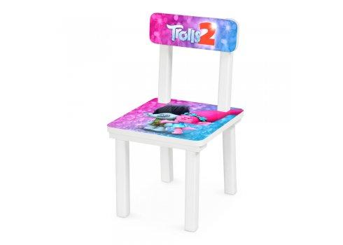 """Детский деревянный столик со стульчиком """"Тролли Trolls"""" BSM2K-81"""