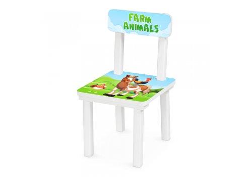 Детский деревянный столик со стульчиком Ферма BSM2K-82