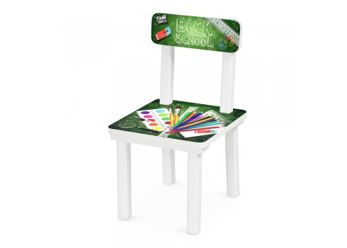 Детский деревянный столик со стульчиком Школа BSM2K-83