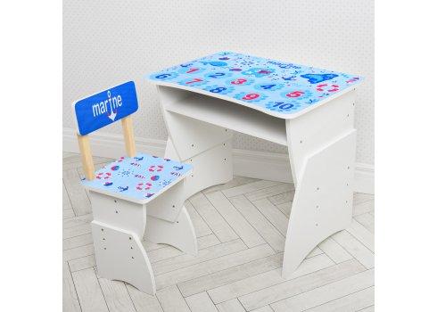 """Детская стол-парта со стульчиком """"Море"""" Bambi 905-100 голубой"""