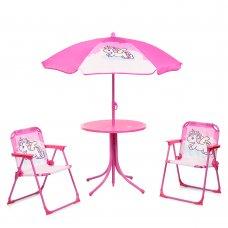 Столик с зонтиком и стульчиками Bambi Единорог 93-74-UNI