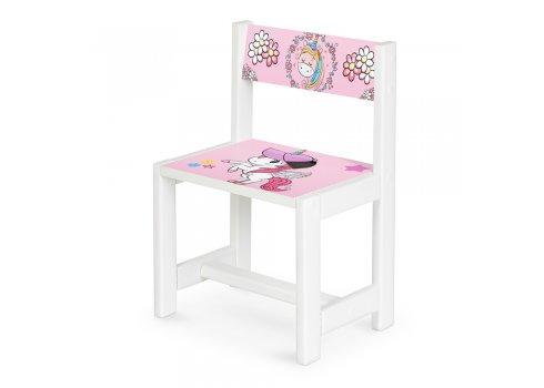 Детский деревянный столик со стульчиком Единорог BSM1-19