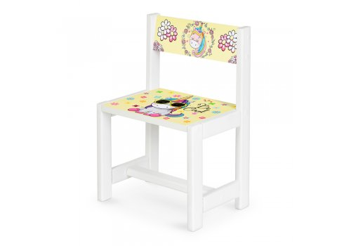 Детский деревянный столик со стульчиком Единорог BSM1-31