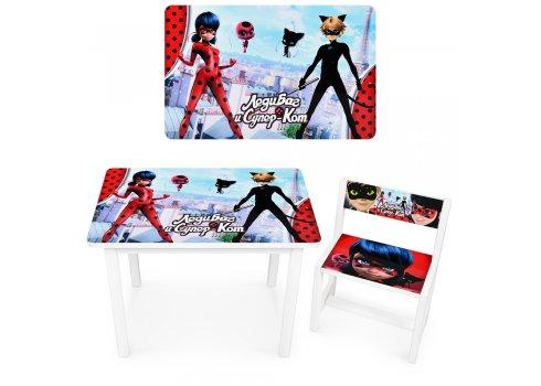 Детский деревянный столик со стульчиком Леди Баг и Супер-Кот BSM1-M01