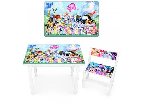 Детский деревянный столик со стульчиком My Little Pony BSM1-M02