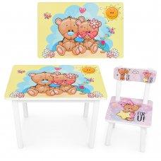 """Детский деревянный столик со стульчиком """"Мишки"""" BSM2K-34D"""