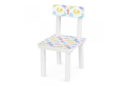 """Детский деревянный столик со стульчиком """"Цифры"""" BSM2K-8"""