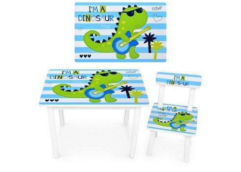 """Детский деревянный столик со стульчиком """"Дино"""" BSM2K-86"""