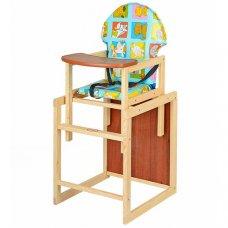 Деревянный стульчик для кормления, трансформер 2в1, VIVAST М V-002-10