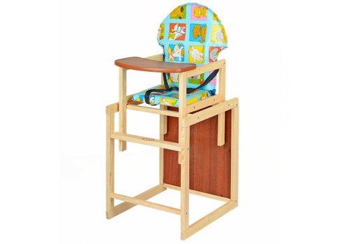 Деревянный стульчик для кормления - трансформер 2в1 М V-002-10