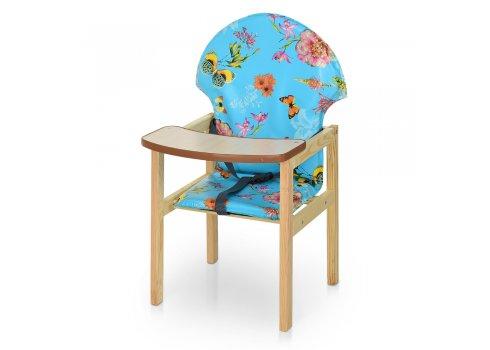 Деревянный стульчик для кормления - трансформер 2в1 М V-002-20 Бабочка