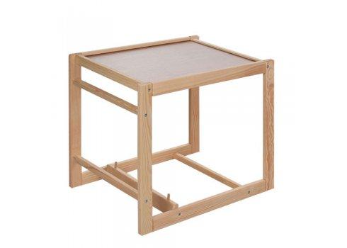 Деревянный стульчик для кормления - трансформер 2в1 Розовый горох M V-002-25 малиновый