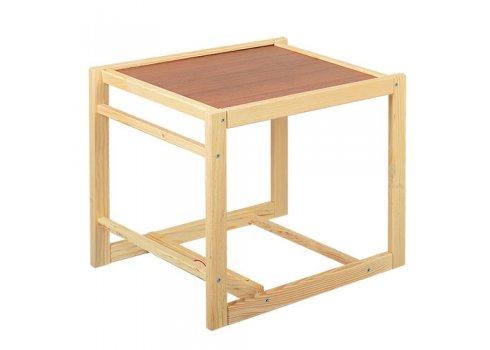 Деревянный стульчик для кормления - трансформер 2в1 М V-002-8 совы