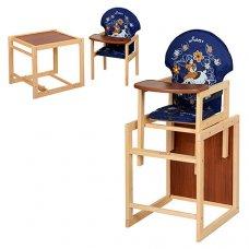 Деревянный стульчик для кормления (трансформер) Собака, М V-010-24-6 синий