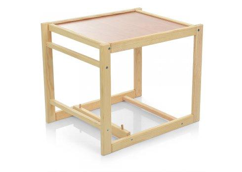 Деревянный стульчик для кормления (трансформер) Заяц, М V-010-28-3 розовый