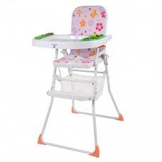 Стульчик для кормления 2в1, складной, Bambi M 0405-2 Цветочки розовый