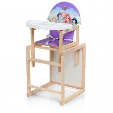 Деревянный стульчик для кормления - трансформер, М K-102-10PU Принцессы