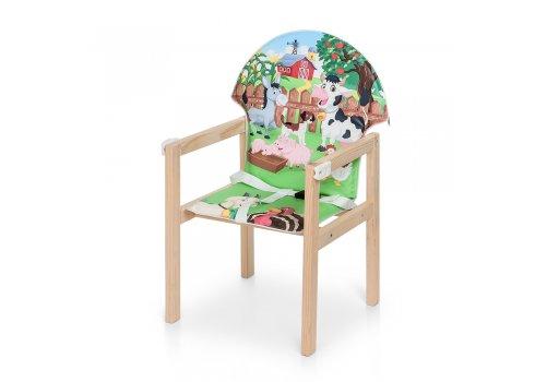Деревянный стульчик для кормления - трансформер, М V-102-10PU Ферма