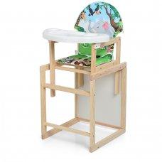 Деревянный стульчик для кормления - трансформер, М V-102-11PU Зоопарк