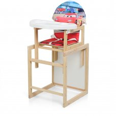 Деревянный стульчик для кормления - трансформер, М K-102-7PU Cars