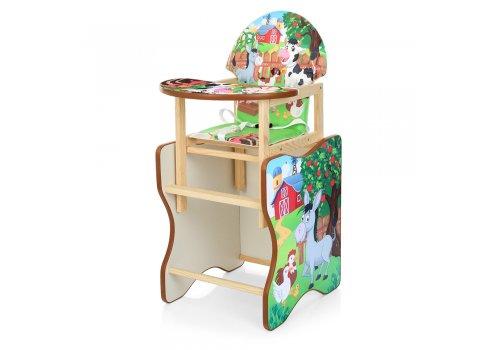 Деревянный стульчик для кормления (трансформер) Ферма М V-112-10PU