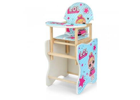 Деревянный стульчик для кормления (трансформер) LOL М K-112-24PU