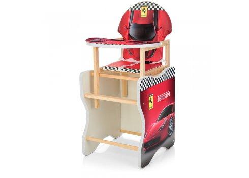 Деревянный стульчик для кормления - трансформер, М K-112-47PU Феррари красный