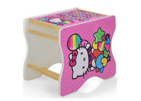 Деревянный стульчик для кормления - трансформер, М V-112-49-PU Hello Kitty