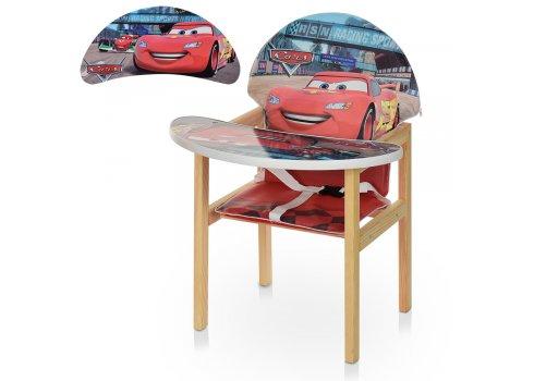 Деревянный стульчик для кормления (трансформер) Тачки Cars М V-112-52-PU