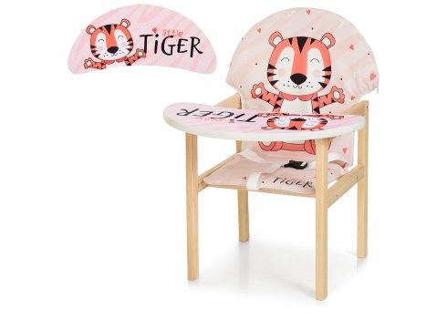 Деревянный стульчик для кормления - трансформер, М K-112-59-PU Тигр