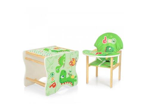 Деревянный стульчик для кормления (трансформер) Дино М K-112-73-PU