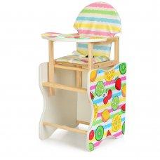 Деревянный стульчик для кормления (трансформер) Фрукты М K-112-75-PU