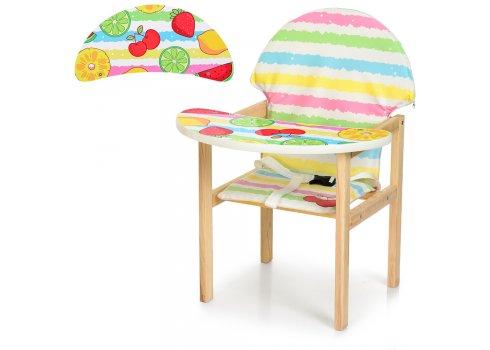 Деревянный стульчик для кормления - трансформер, М K-112-75-PU Фрукты
