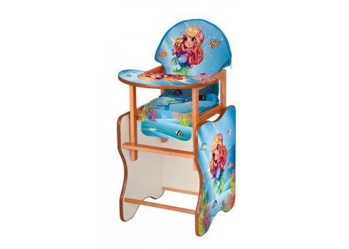 Деревянный стульчик для кормления (трансформер) Русалочка М V-112-78 PU