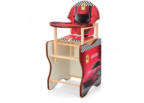 Деревянный стульчик для кормления - трансформер, М K-112-7PU Феррари красный