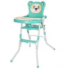Стульчик-трансформер 2в1 (для кормления+стульчик), 113-15 бирюза