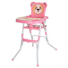 Cтульчик-трансформер 2в1 (для кормления+стульчик), 113-8 розовый