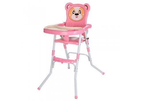 Стульчик-трансформер 2в1 (для кормления+стульчик), 113-8 розовый
