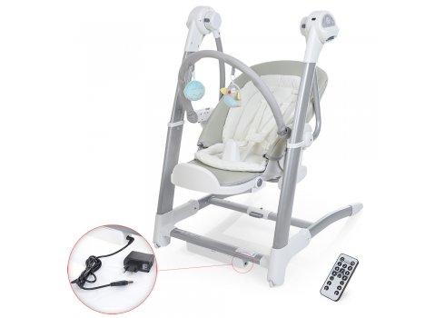 Детский стульчик-электрокачели 3в1 El Camino, SG116-11 серый