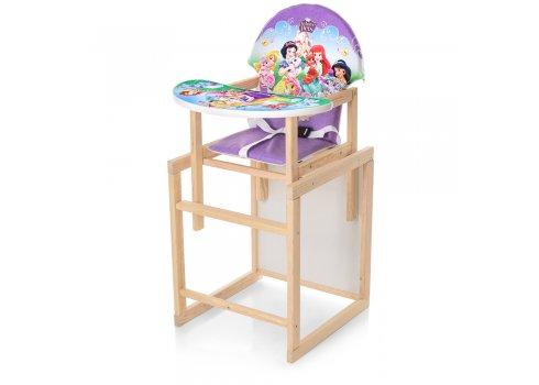 Деревянный стульчик для кормления - трансформер, М K-122-10PU Принцессы