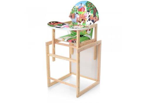 Деревянный стульчик для кормления - трансформер, М V-122-10PU Ферма