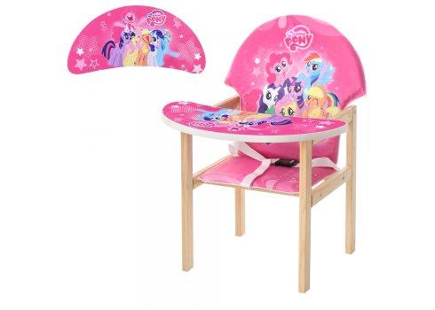 Деревянный стульчик для кормления - трансформер, М K-122-9PU My Little Pony