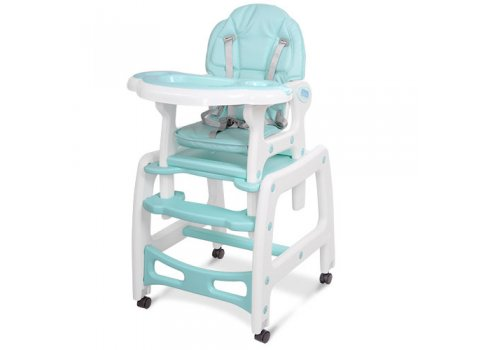 Стульчик для кормления, трансформер 3в1 (стульчик для кормления/столик+стульчик/качалка), BAMBI M 1563-12-1 ментоловый