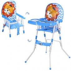 Cтульчик-трансформер 2в1 (для кормления+стульчик) GL 217С-212 Лев, голубой